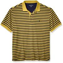 Nautica Men's Big and Tall Classic Fit Short Sleeve 100% Cotton Stripe Soft Polo Shirt