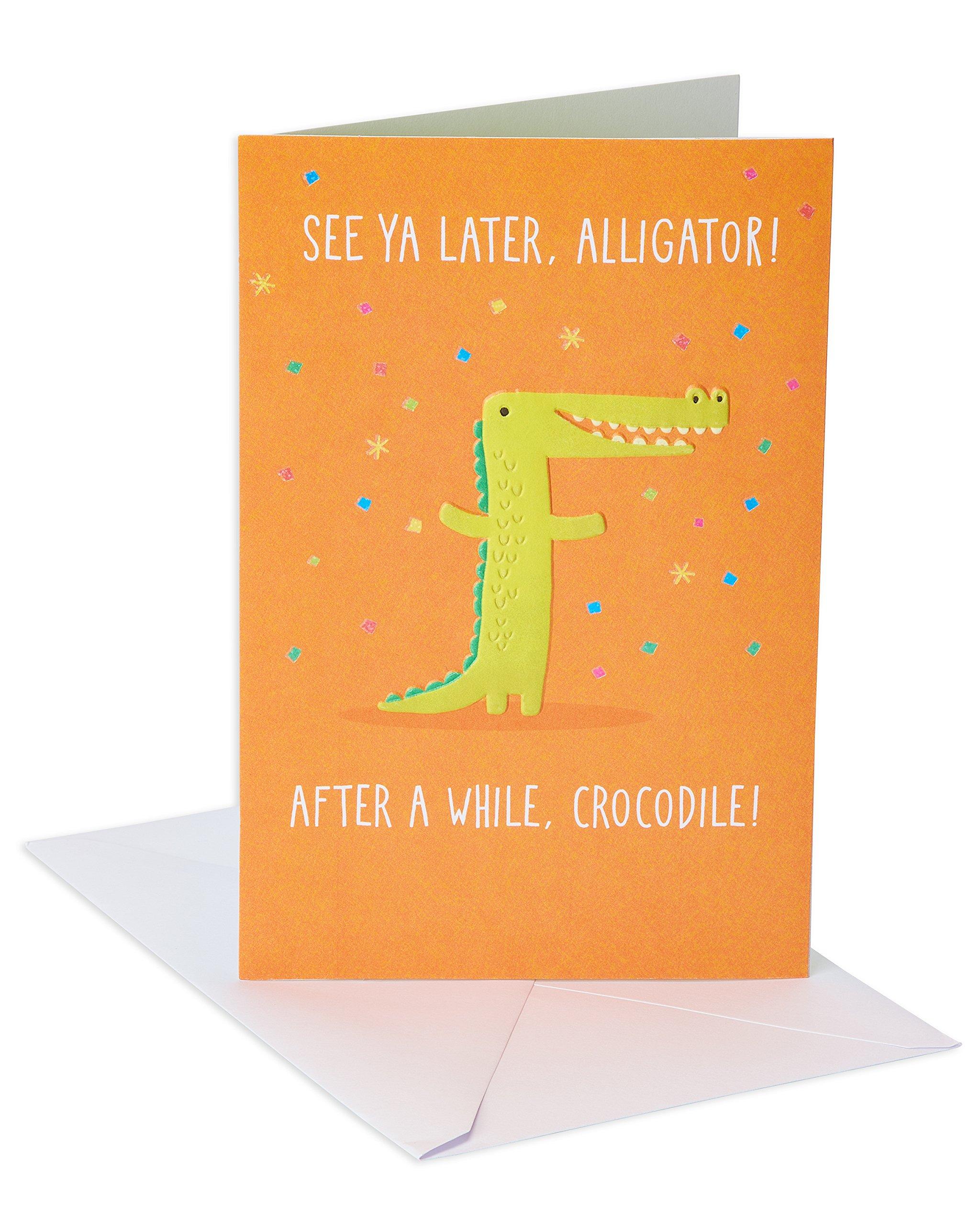 American Greetings Goodbye Card (See Ya Later Alligator)