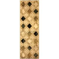 """Superior Modern Viking Collection Area Rug, 10mm Pile Height with Jute Backing, Chic Textured Geometric Trellis Pattern, Anti-Static, Water-Repellent Rugs - Cream, 2'7"""" x 8' Runner"""