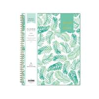 """Day Designer for Blue Sky 2020-2021 Academic Year Weekly & Monthly Planner, Flexible Cover, Twin-Wire Binding, 8.5"""" x 11"""", Palms"""