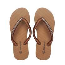Women's Slim Flip Flop Sandal with Artificial Diamond Glamour Summer Slippers for Women