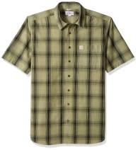 Carhartt Men's Big and Tall Big & Tall Essential Plaid Open Collar Short Sleeve Shirt
