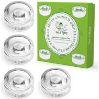 Year of Plenty Fermentation Weights - NonSlip Grip Handle - for Fermenting Sauerkraut, Pickles, Kimchi in Wide Mouth Mason Jars - Lead/Cadmium Free - (Set of 4)