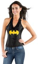 Sexy Batgirl Faux Leather Corset For Adults