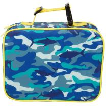 "Insulated Durable Lunch Box Sleeve - Reusable Lunch Bag - Securely Cover Your Bento Box, Works with Bentology Bento Box, Bentgo, Kinsho, Yumbox (8""x10""x3"") - Camo"