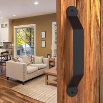 Barn Door Handle Large Black 10 inch Solid Steel Gate Handle Pull for Sliding Barn Doors Closets Gates Garages Sheds