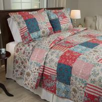 Lavish Home 3 Piece Mallory Quilt Set, King
