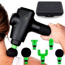 Percussion Massage Gun for Deep Muscle Relaxation by Body Drummer Pro-X - Quiet Pro Massager for Deep Tissue Relief - Five Attachments