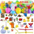 """60 Packs Toys Pre Filled Easter Eggs Combo Set includes 12 3.25"""" Eggs and 48 2.25"""" Eggs, Bright Colors Easter Eggs for Easter Basket Stuffers, Easter Party Favors, Easter Egg Hunt, Classroom Events"""