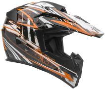 Vega Helmets MIGHTY X Kids Youth Dirt Bike Helmet – Motocross Full Face Helmet for Off-Road ATV MX Enduro Quad Sport, 5 Year Warranty  (KTM Orange Blitz Graphic,Medium)