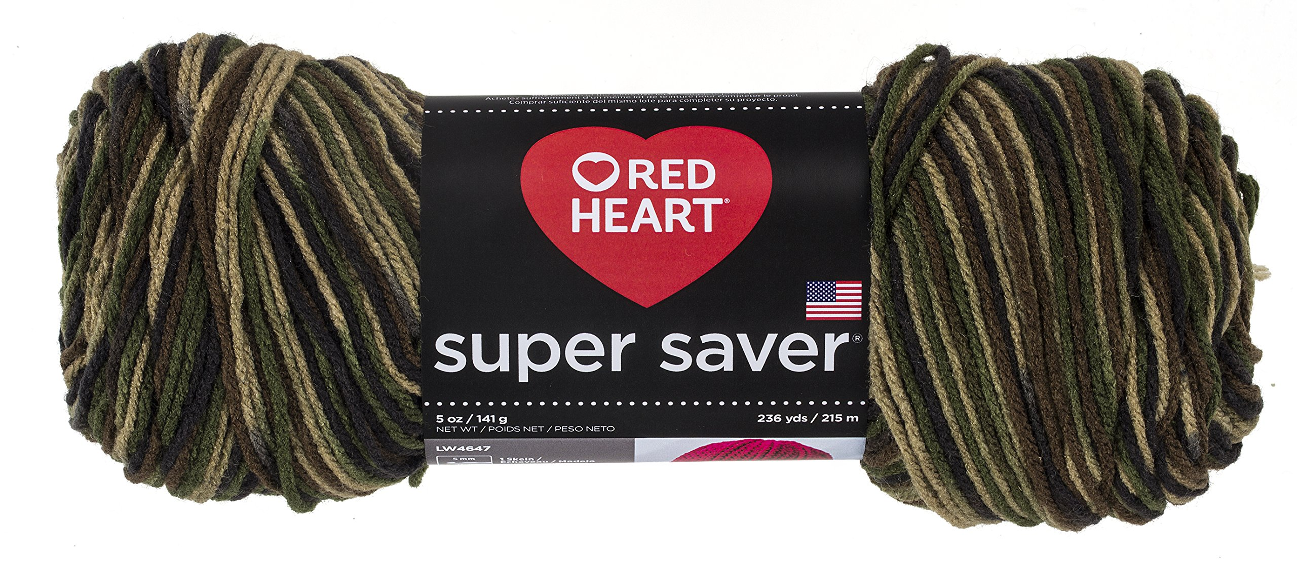 Red HeartSuper Saver Yarn, Camouflage Print