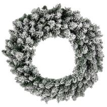 """Admired By Nature GXW5960-SNOW 180 Christmas Pine 24"""" Wreath with Frosted Snow Tips"""