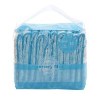 LittleForBig Printed Adult Brief Diapers Adult Baby Diaper Lover ABDL 10 Pieces - Nursery Blue(Medium)