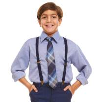 Vittorino Boys' Toddler Dress Shirt with Matching Bowtie and Suspenders Set