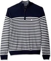 Nautica Men's Big and Tall Half-Zip Mock Neck Breton Sweater
