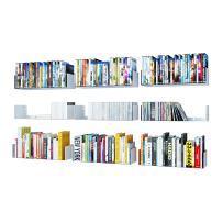 Wallniture U Shape Bookshelf Wall Mountable Metal CD DVD Storage Rack White Set of 9