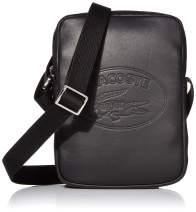 Lacoste Men's Tall-Plus-Size MEN'S L.12.12 SLIM VERTICAL CAMERA BAG Accessory, black, One Size
