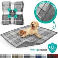 PetAmi Waterproof Dog Blanket for Bed, Couch, Sofa   Waterproof Dog Bed Cover for Large Dogs, Puppies   Sherpa Fleece Pet Blanket Furniture Protector   Reversible Microfiber