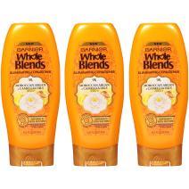 Garnier Whole Blends Shampoo and Conditioner, Moroccan Argan & Camelilia Oils , 12.5 Fl Oz, 3 Count