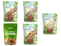 Organic Brain Healthy Nuts Gift Box - Pecans, Walnuts, Almonds, Pistachios, Cashews