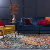 Tayse Namita Multi-Color 8x10 Rectangle Area Rug for Living, Bedroom, or Dining Room - Boho, Medallion