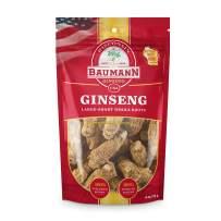 Baumann Ginseng Root (Short)-100% American Ginseng/Ginseng Root/Wisconsin Ginseng/Hand-Selected Ginseng/Ginseng Extract- All-Natural Ginseng Supplements – 4oz
