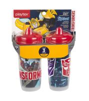 Playtex Sipsters Stage 3 Transformers Insulated Spout Sippy Cup, 9 Ounce, 2 Count
