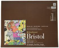 "Strathmore 400 Series Bristol, 2-Ply Vellum, 14""x17"" Tape Bound, 15 Sheets"