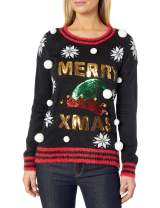 Blizzard Bay Women's Crew Neck Hi-Low Merry Christmas Pullover