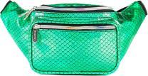 SoJourner Mermaid Rave Fanny Pack - Packs for festival women, men | Cute Fashion Waist Bag Belt Bags (Holographic Green)