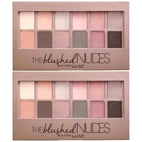 Maybelline New York The Blushed Nudes Eyeshadow Makeup Palette, 2 Count