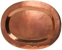 Sertodo Copper, Thessaly Oval Platter, Hand Hammered 100% Pure Copper