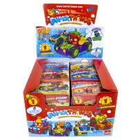 SuperThings Series 1 - Supercar Cdu by Goliath - Each Cdu Contains 12 Assorted Supercar Blind Boxes (Colors May Vary) - Each Blind Box Contains 1 Character, 1 Supercar & 1 Checklist, Multicolor