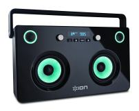 ION Audio Spectraboom | Bluetooth Stereo Boom Box with Lighted Speakers & Built-In Rechargeable Battery (60 watts)