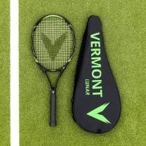 Vermont Lunar Tennis Racket   Competitive Club Tennis   Senior Tennis Racket   Black & Yellow Design   VPG Tek Construction   Graphite Frame with Aluminum Composite