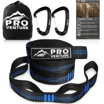 Pro Hammock Tree Straps with CARABINERS - Adjustable 30+2 Loops, 400lbs Rated (1200lbs Tested) Non Stretch - Lightweight, Portable Camping - Quick & Easy Setup - Heavy Duty and Tree Friendly