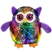 Athoinsu Flip Sequin Stuffed Owl Plush Toy with Reversible Sparkle Sequins Birthday for Kids Toddlers, 8''