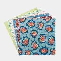 "Connecting Threads Print Collection Precut Cotton Quilting Fabric Bundle 10"" Squares (Annie's Apron)"