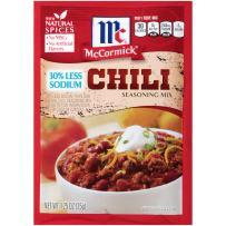 McCormick Less Sodium Chili Seasoning Mix, 1.25 Ounce (Pack of 12)