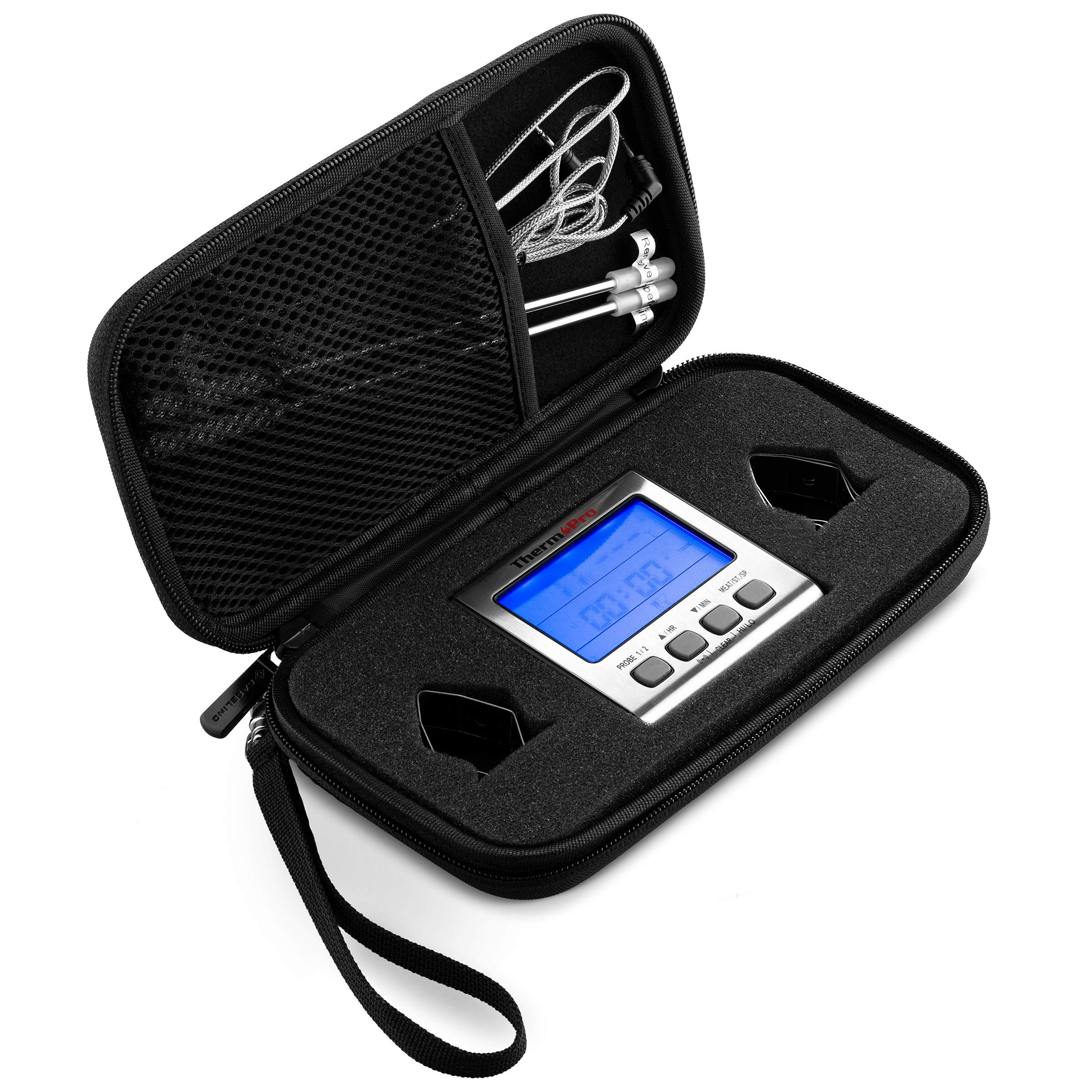 Caseling Hard Case Fits ThermoPro TP17 Dual Probe Digital Cooking Meat Thermometer Food Grill Thermometer