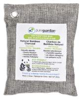 Guardian Technologies Pure Guardian CB200 Bamboo Charcoal Air Purifying Bag, 200g, Eco-Friendly, Naturally Absorbs Odors, Excess Moisture and Pollutants, 1-Pack, Grey