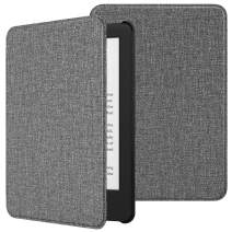 TiMOVO Case Compatible for All-New Kindle (10th Generation, 2019 Release), Thin Lightweight Leather Cover with Auto Wake/Sleep Fits Amazon Kindle, Not Fit Kindle Paperwhite - Jeans Gray