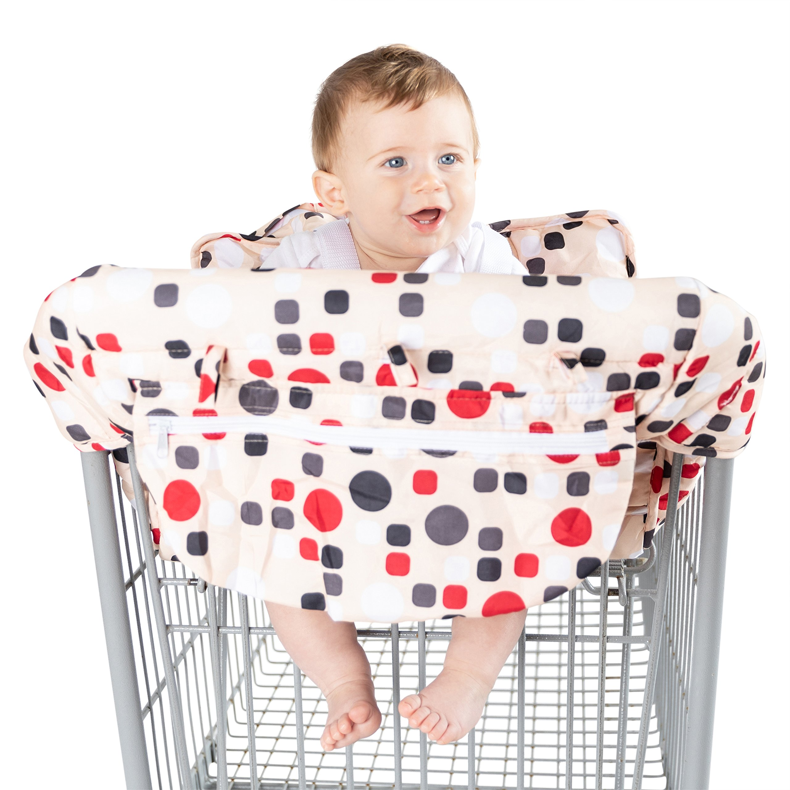 Baby Shopping Cart Cover by BABEL'E (Polka Dot)