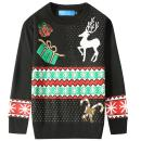 SSLR Big Boys' Crewneck Snowflake Pullover Ugly Christmas Sweater