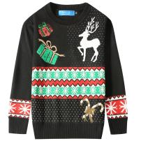 SSLR Big Boys' Crewneck Snowflake Pullover Ugly Christmas Sweater