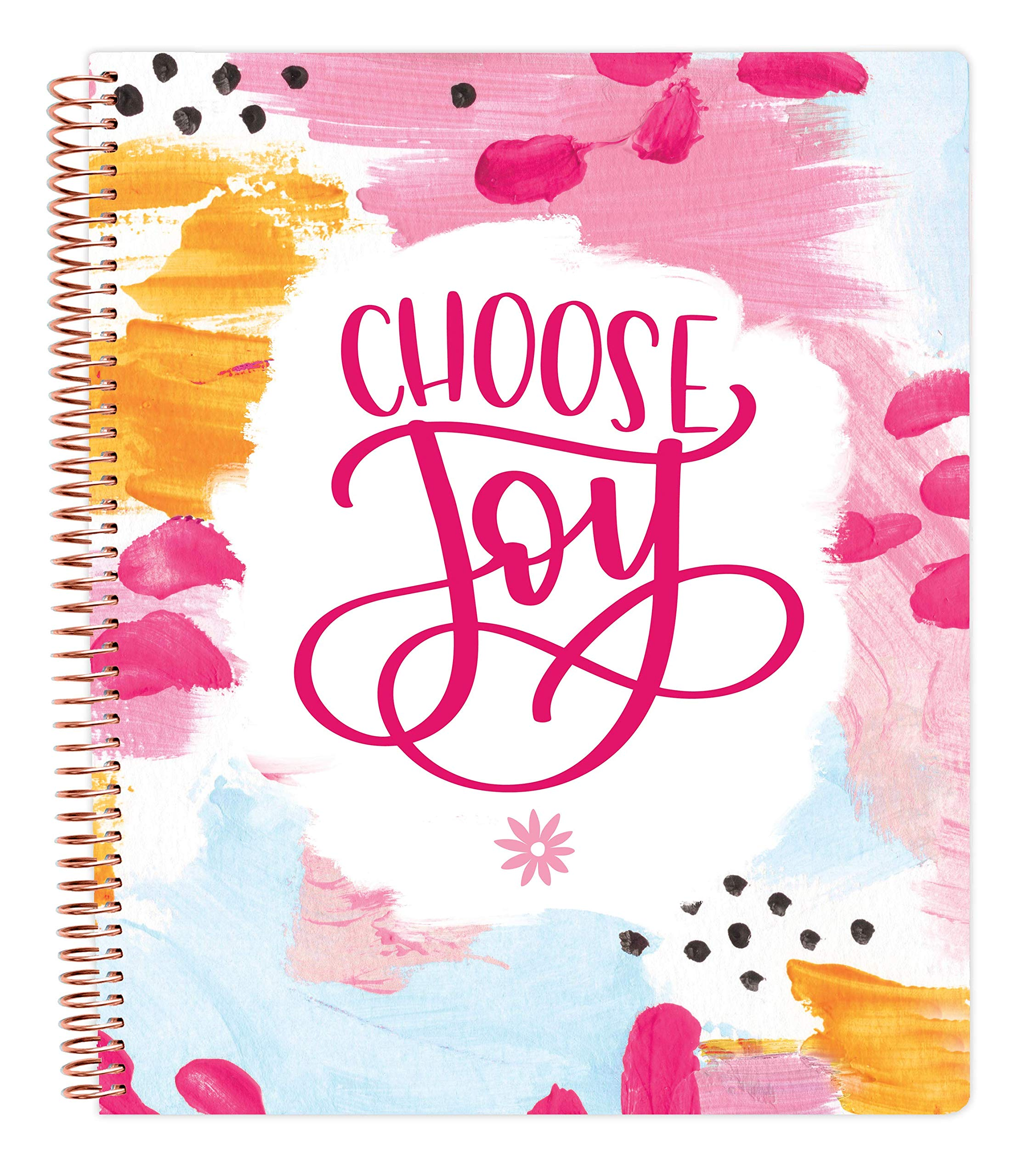 """bloom daily planners All in One Ultimate Monthly & Weekly Undated Calendar Planner, Notebook, Sketch Book, Grid Pages, Coloring Book and More! 9"""" x 11"""" - Choose Joy"""