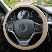FH Group FH3001BEIGE Beige Steering Wheel Cover (Silicone Snake Pattern Massaging grip in Color-Fit Most Car Truck Suv or Van)