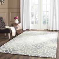 Safavieh Dip Dye Collection DDY538C Handmade Geometric Moroccan Watercolor Grey and Ivory Wool Area Rug (6' x 9')