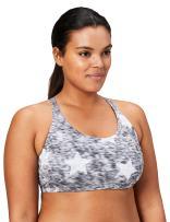 Amazon Brand - Core 10 Women's (XS-3X) Printed Strappy Back Yoga Sports Bra