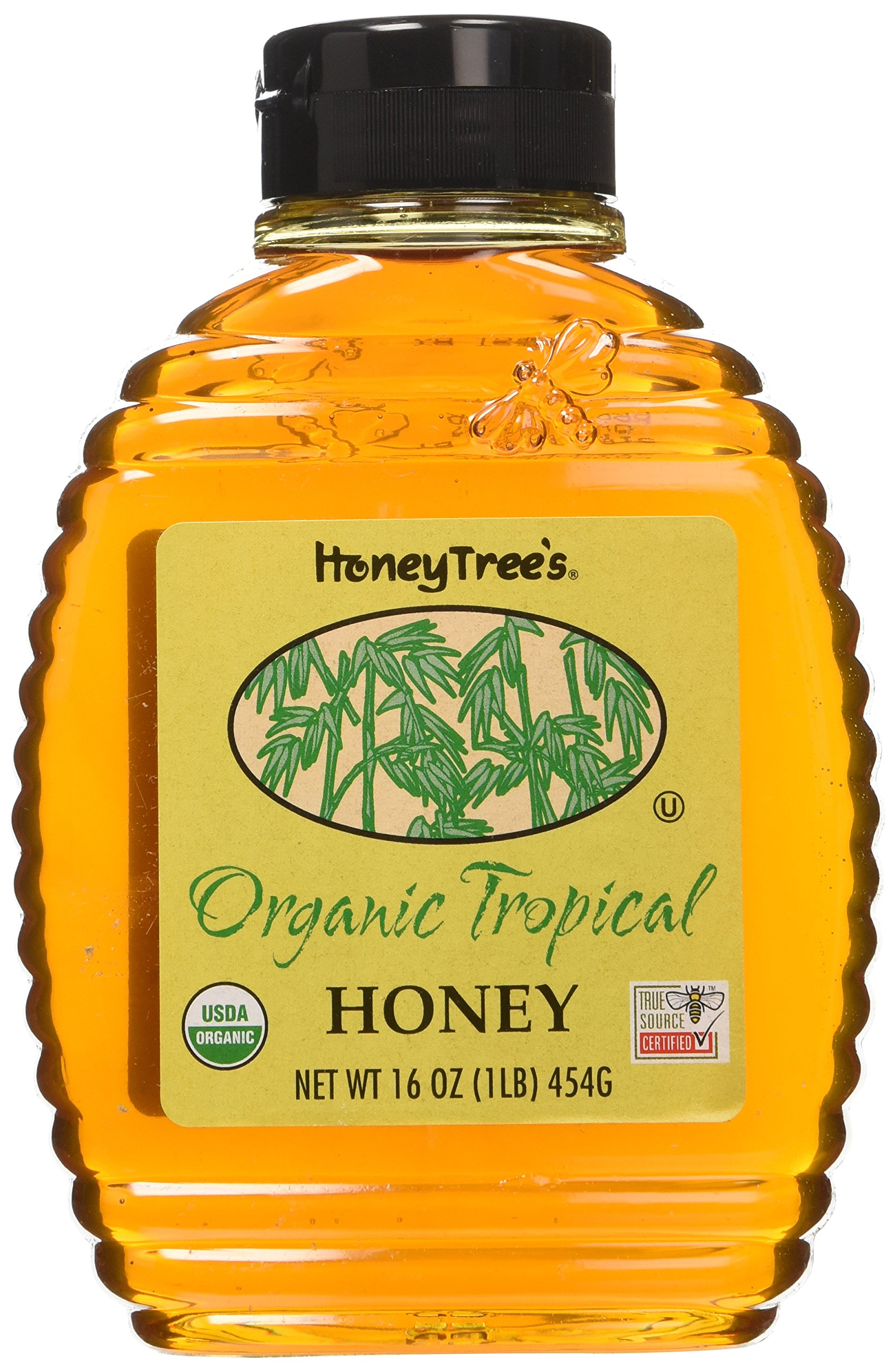 HoneyTree Organic Tropical Honey, 16 Ounce (Pack of 6)